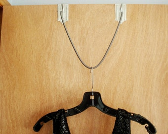 Vintage Hanger Over the Door Spring Rack Hanger