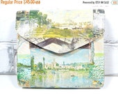 On Sale Price Monet Purse with Strap. READY TO SHIP. Impressionist Clutch. For Her. French Art. Unique Gift. One of a Kind Portable Art.