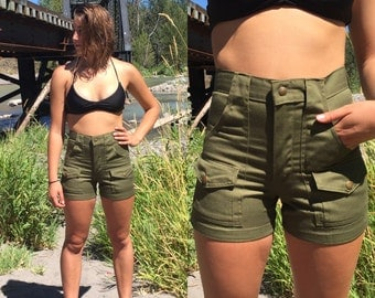 Vintage Boy Scout High Waist Shorts 28 Waist
