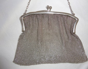 Sterling Silver Mesh Purse