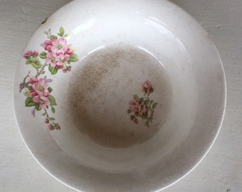 Floral Bowl- Vintage Floral Bowl, Vintage Bowl, Floral, Bowl, Serving Bowl, Shabby Chic, Cottage, French Country