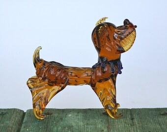 Murano glass dog, 1950s