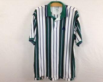 90s striped polo shirt size L