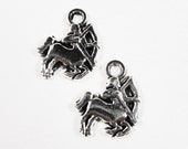 Sagittarius Zodiac Charms 13x11mm Antique Silver Centaur Charms, Horoscope Charms, Small Sagittarius Pendants, Metal Charms for Jewelry 10pc