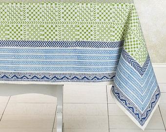 Vogue Block Print Cotton Table Cloth
