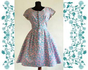 1950's Vintage Dirndl Dress