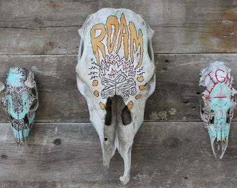 Roam Campfire on a cow skull