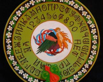 "Ouija board - Spirit board - Talking board ""Bird of Paradise"" / Any Alphabet & Free Shipping"