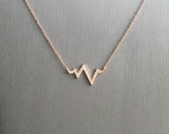 Mini Heartbeat Necklace