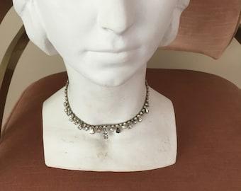 Rhinestone necklace, choker