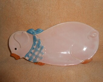Spoon Rest In shape Of A Country Pig-Vintage