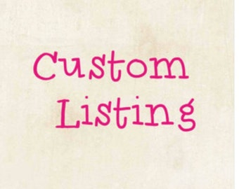 Custom listing for Jami Nugent