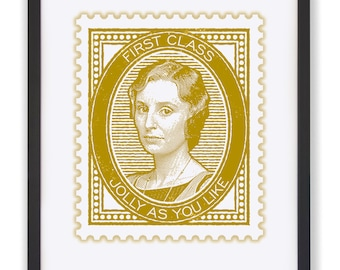 Jolly As You Like - Downton's Lady Edith 50 x 40cm Stamp Print