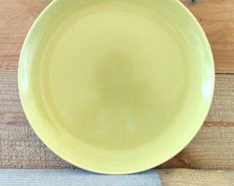 Stoneware Plate Russel Wright Casual China Avocado Green Chartreuse Yellow Dinner Plate 10 Inch