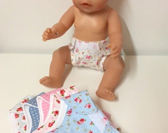 Doll Nappy / Diaper (Set of Three)