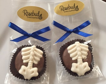 12 Chocolate Spine Cookies Chiropractic Favors Skeleton Chiropractor Candy Career Day Jobs