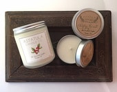 FRAZIER FIR + SANDALWOOD // Soy Candle // 4oz Mini Tin