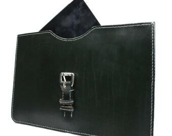 """UK Sedgwick English Bridle Leather Computer Sleeve  13"""" x 9"""" - Marcellino NY - Ready To Ship"""