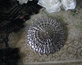 Vintage Silver Filigree Scarf Clip