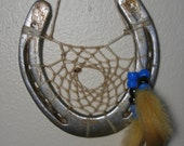 Horseshoe Dream Catcher with Gold Feathers