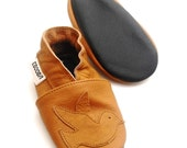soft sole baby shoes infant kids girl gift bird brown 2 3 years ebooba 29-5