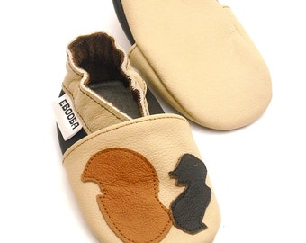 soft sole baby shoes leather infant kids children girl boy gift dark brown squirrel beige 12 18 m ebooba 32-3