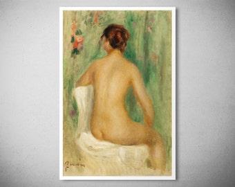 Nu Assis, De Dos by Pierre Auguste Renoir, 1895 - Poster Paper, Sticker or Canvas Print