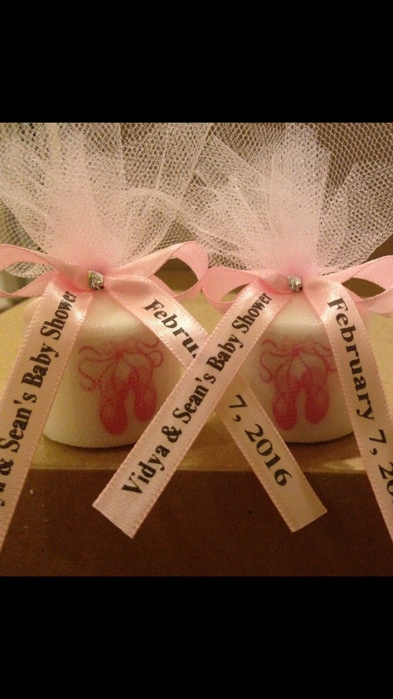 baby shower favors ballerina slipper favors candle favors wedding