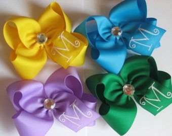 Add a Made to Match Monogrammed Hairbow
