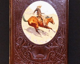 1977 Time Life Books The Old West-The Cowboys- Leather Bound Hardcover Book