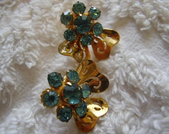 Vintage CORO Rhinestone Screwback Earrings