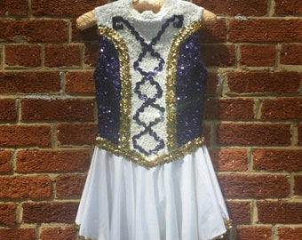 Sequined Circus Costume Majorette Dancer Adult Small