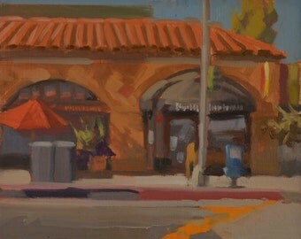 Portfolio - Cafe - Coffee - Lunch - Breakfast - Neighborhood - Hangout - Local - Plein Air - Oil Painting - Landscape