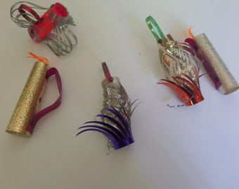 Mid-Century Foil/Tinsel Christmas Ornaments