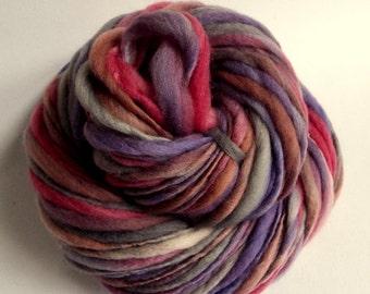 Thick and Thin, Chunky Yarn Purple, Pink Yarn Bulky Yarn Merino Wool Yarn Merino Yarn Thick Yarn Knitting Yarn