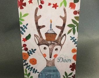 Oh Deer Belated Birthday Card