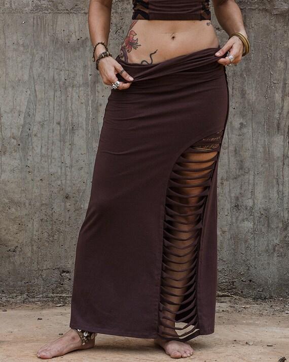 women festival skirt brown skirt maxi skirt with