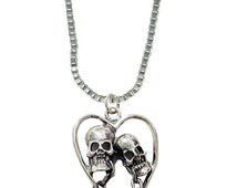 """Love Never Dies in a Sterling Silver Pendant with a 16"""" Sterling Silver Chain Made in America"""