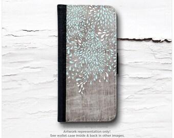 iPhone 6S Case Wallet, iPhone 6 Wallet Case Wood Print, iPhone 6s Case Floral, Wood iPhone 6 Wallet Case, iPhone 6S Flip Wallet Case T138
