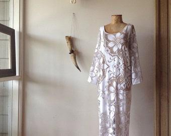Womens Hippie Boho Maxi 3/4 length Dress.Size 10 to 16.Free Size .Taking custom orders.