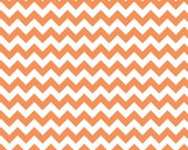 Orange and White Small Chevron, Riley Blake Fabric, Cotton Sewing Material, Quilting and Clothing and Crafts, Fat Quarter,By The Yard