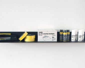 13-Gauge Long Wall Shelf  - Black