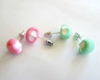 Polymer Clay Mochi Stud Earrings (Nickle-free)
