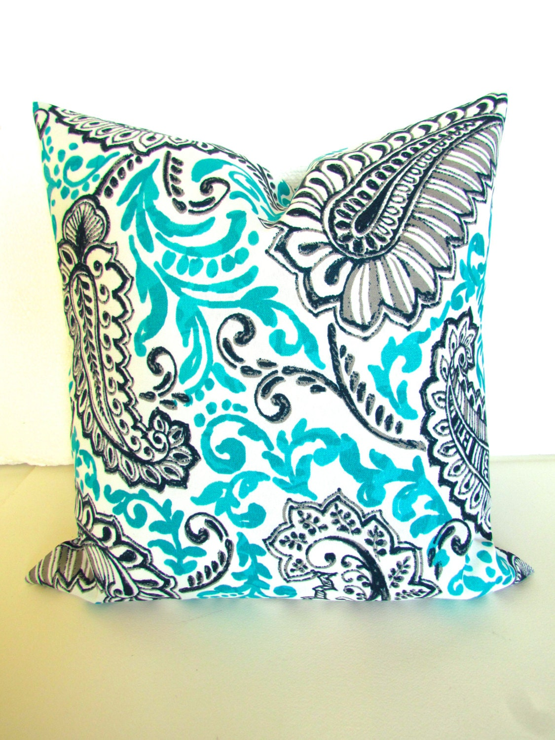 Blue Outdoor PILLOWS Turquoise Pillow Covers Outdoor Throw