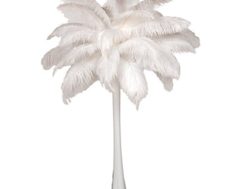 12 Ostrich Feather Centerpieces