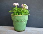Antique Red Wing Flowerpot ~ Vintage Bisque Flower Pot ~ Red Wing Stoneware ~ Garden Pottery