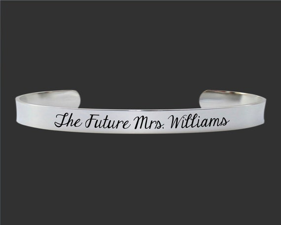 Engagement Gift | Bridal Shower Gift | Girlfriend Gift | Fiance Gift | The Future Mrs. Custom Personalized Bracelet Korena Loves