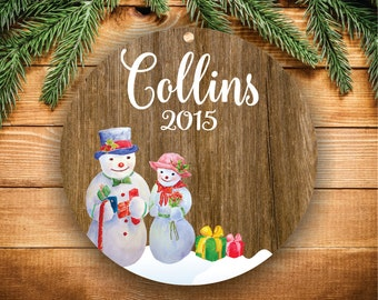 Personalized Family Ornaments Personalized Christmas Ornaments