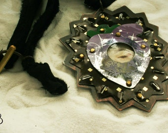 Reclaimed tin REST talisman necklace
