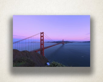 Golden Gate Bridge Canvas Art, Bridge Wall Art, San Francisco Canvas Print, Artwork, Photograph, Canvas Print, Home Art, Wall Art Canvas